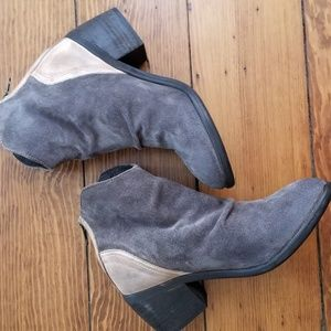 Rebels Gray Suede/ Leather Booties 8M